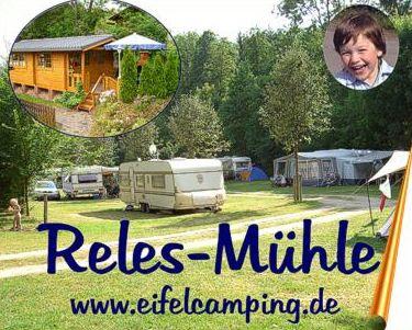 Eifelcamping Reles-Mühle - huur caravans, bungalow, staanplaatsen